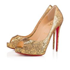 195935b7e918 Christian Louboutin United States Official Online Boutique - New Very Prive 120  Version Gold Specchio Laminato