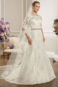 Lookbook: sleeved #wedding dresses http://www.weddingandweddingflowers.co.uk/article/437/lookbook-sleeved-wedding-dresses