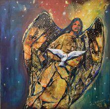 indian angel Angel, Art, Painting