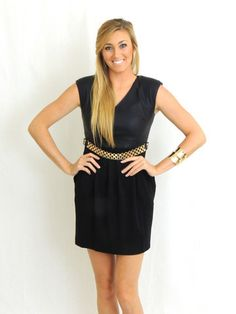 Little Leather Mini Dress | How To Do All Black and Look Chic, Not Goth | shopdailychic