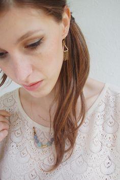 pastel green necklace - glass beads necklace- Corail Menthe https://www.etsy.com/fr/shop/CorailMenthe?ref=si_shop