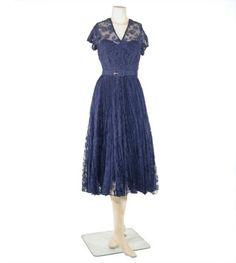 Robert Piguet Lace Dress   1950s