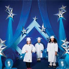 Super Stars Complete Prop Set - Set the stage for a memorable graduation and let your little super stars shine. Prop set lights up!