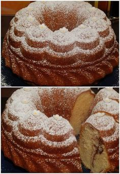 "Picture of Recept - Bábovka ""Rychlovka"" Czech Recipes, Classic Cake, Doughnut, Yummy Treats, Cupcake Cakes, Food And Drink, Tasty, Sweets, Cookies"