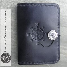 Handmade Genuine Leather Compass Kindle Cover