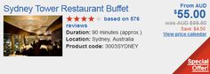 Sydney tower buffet discount details