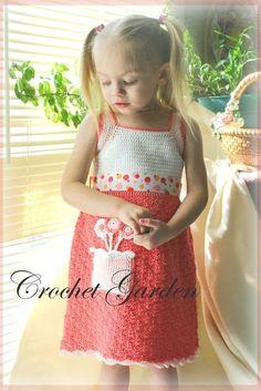 NEW Lollipop Sundress TODDLER Crochet Pattern 2T  by CrochetGarden, $6.99