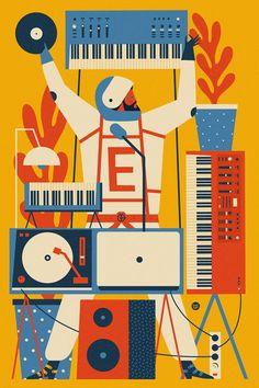 Ilustraciones al ritmo de Dawid Ryski | Blog de diseño gráfico y creatividad.
