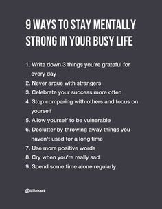9 Ways to Stay Mentally Strong in Your Busy Life.The future approaches everyone, and you want to be successful in life.With these helpful tips, you will be able to have a healthy mindset. Positive Quotes, Motivational Quotes, Inspirational Quotes, Positive Mindset, Now Quotes, Life Quotes, Mentally Strong, Stay Strong, Self Care Activities