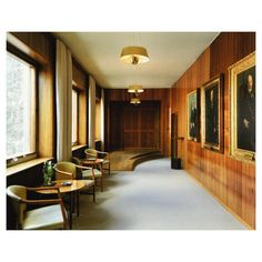 The Waiting Room for the councilors at Rådhus, Aarhus City Hall (1941) Arne…