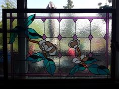 """beautiful stained glass piece. 36x54"""" $400 obo"""