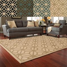 Style Haven Geometric Diamond Lattice Rug (1'10 x 3'3) (Sea/ Beige), Blue