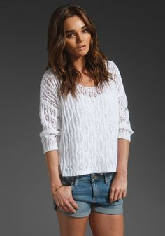360 SWEATER Seraphina in White at Revolve Clothing