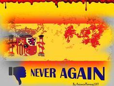 """Copertina tratta da Onda Lucana by Antonio Morena 2017. Titolo:""""Never Again"""". Dedicato agli ultimi eventi che hanno tristemente colpito la città catalana di Barcellona in Spagna ."""