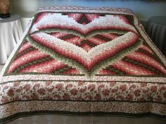 Bargello Heart QueenSize Quilt by AbsolutelyObsessed on Etsy, $300.00