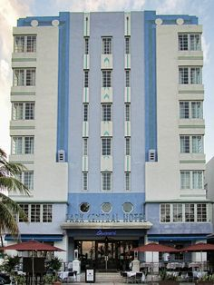 Art Deco Tour - Art Deco Park Central Hotel on Ocean Drive in the South Beach Area of Miami Beach, Florida.