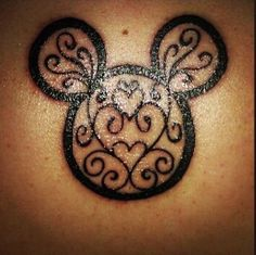 Disney tattoo - elegant Mickey head