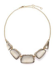 Alexis Bittar - Desert Jasmine Lucite & Crystal Bib Necklace