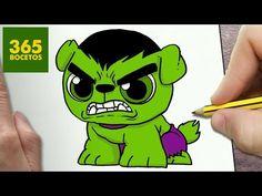 COMO DIBUJAR UN PERRO HULK KAWAII PASO A PASO - Dibujos kawaii faciles - How to draw a DOG HULK - YouTube