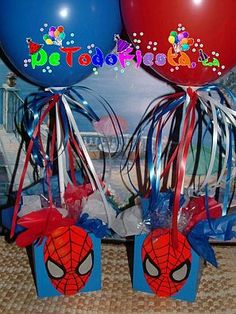 centros de mesa del hombre araña - Buscar con Google Superhero Birthday Party, 6th Birthday Parties, 3rd Birthday, Hulk Party, Gotcha Day, Frozen Party, Childrens Party, Holidays And Events, Party Planning