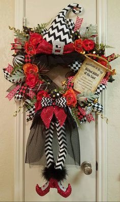 Wicked Witch of the East Wreath, Wizard of Oz Wreath, Halloween Wreath, Witch…