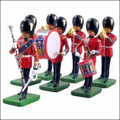 Grenadier Guards Drum and Bugle Set. Brand New W. Britain toy soldiers have arrived at The Toymaker of Williamsburg!