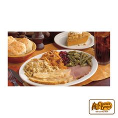 Join us for Thanksgiving, or take home our Thanksgiving Dinner To-Go that serves up to six.     Answer fun questions and you could win in the Cracker Barrel Old Country Store Pick it to Win it Sweepstakes. Start 'picking' your answers at crackerbarrel.com/win (ends Jan 2, 2013).