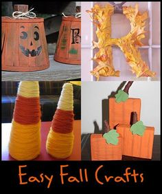 Easy DIY Fall Decorating - the pumpkins on the bottom right would be cute and easy!
