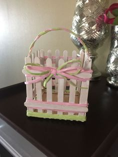 love how my DIY Popsicle stick easter basket came out!I love how my DIY Popsicle stick easter basket came out! Craft Stick Projects, Craft Stick Crafts, Craft Ideas, Kids Crafts, Crafts To Make, Popsicle Stick Crafts, Popsicle Sticks, Spring Crafts, Holiday Crafts
