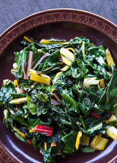 Easiest way to make Swiss chard! Just sautée in olive oil with garlic ...