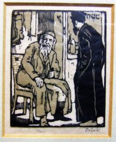 Emil Orlik 4 original woodcuts from Small Woodcuts Kleine Holzschnitte 1920 old frames Jreish artist free worldwide delivery by ElegantPossessions on Etsy