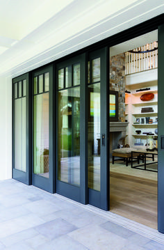 Embrace the view with Pella® Architect Series® multi-slide patio doors. Embrace the view with Pella® Architect Series® multi-slide patio doors. Interior Sliding Glass Doors, Interior Barn Doors, Sliding French Doors, Black French Doors, French Sliding Patio Doors, Bifold Glass Doors, Exterior Sliding Doors, Exterior French Doors, Bifold Doors Onto Patio