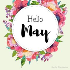 'Hello May - monthly cover for planners, bullet journals' Sticker by vasylissa Bullet Journal Month, Bullet Journals, Hello January, Unisex Baby Names, Planners, Journal Stickers, Planner Stickers, Journal Covers, Months In A Year