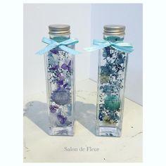 salon de FleurさんはInstagramを利用しています:「爽やか✨ #ハーバリウム #プレゼント#プリザーブドフラワー #ヘリクリサム#紫陽花#かすみ草 #シルバーデイジー #ブルー #爽やか#花 #flower#flowerstagram #花のある暮らし #女子力 #可愛い #インテリア雑貨 #贈り物…」 Fun Crafts, Diy And Crafts, Arts And Crafts, Cute Water Bottles, Flower Bottle, Flask, Gemstones, Floral, Flowers
