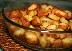 Onion Roasted Potatoes - 1 envelope Lipton onion recipe soup mix  2 lb. all-purpose potatoes, cut into large chunks  1/3 cup olive or vegetable oil