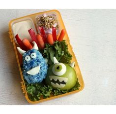 Monster's Inc Lunch - from the 10 cutest lunch box ideas for kids