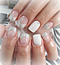 Crisp White Sparkles by stephaniemercer - Nail Art Gallery nailartgallery.nailsmag.com by Nails Magazine www.nailsmag.com #nailart