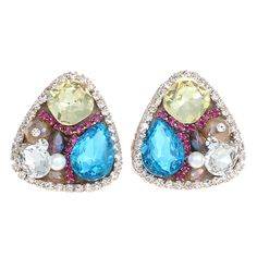 Beautiful #Earring,colorful,like this?  http://www.beads.us/product/Zinc-Alloy-Stud-Earring_p267347.html?Utm_rid=194581