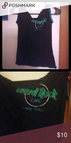 Hard Rock Cafe New York t-shirt Blue and light blue t-shirt Authentic Hard Rock Cafe Tops Tees - Short Sleeve