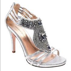 Antonio Melani Sparkly Silver Heels
