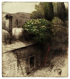 etching & drypoint, by Safet Zec