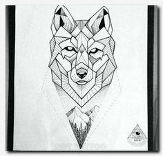 Wolf tattoo geometric related to body tattoo - tattoos sleeve Wolf Tattoos, Dreieckiges Tattoos, Elephant Tattoos, Animal Tattoos, Black Tattoos, Wolf Tattoo Design, Wolf Design, Animal Design, Geometric Wolf Tattoo