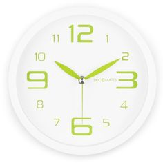 DecoMates Non-Ticking Silent Wall Clock, Fresh Mint, Green Spearmint DecoMates http://www.amazon.com/dp/B00A9ZVHFS/ref=cm_sw_r_pi_dp_4vOaub1PTJASD