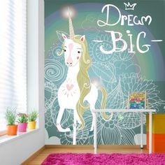 unicorn mural murals dream bedroom