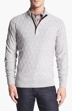 Peter Millar Quarter Zip Merino Wool Sweater available at #Nordstrom
