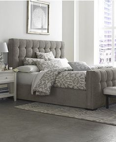 Roslyn Bedroom Furniture Sets & Pieces...looks super cozy, simple and chic. #DecorbyMe @ForRent.com