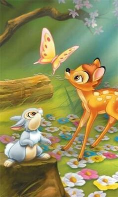 36 Super Ideas For Wallpaper Disney Bambi Walt Disney Characters, Disney Cartoon Characters, Disney Cartoons, Bambi Art, Bambi And Thumper, Arte Disney, Disney Art, Disney Drawings, Cute Drawings