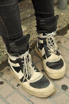 worn raf simons sneakers