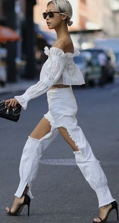 NYFW Outfit 1 - The Haute Pursuit #nyfw - NICEST TOP EVER
