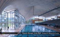 I leave you with perhaps the most visually stunning indoor swimming pool on the planet: Olympia Schwimmhalle in Munich, Germany, built for the 1972 Olympics and now open to the public. I somehow missed the chance to take a dip here during a vacation to Munich this past summer, and I'm still kicking myself. If I ever go back, this will be my first stop.